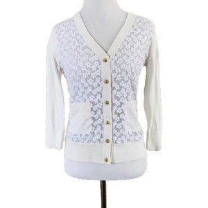Kate Spade cream & white cardigan